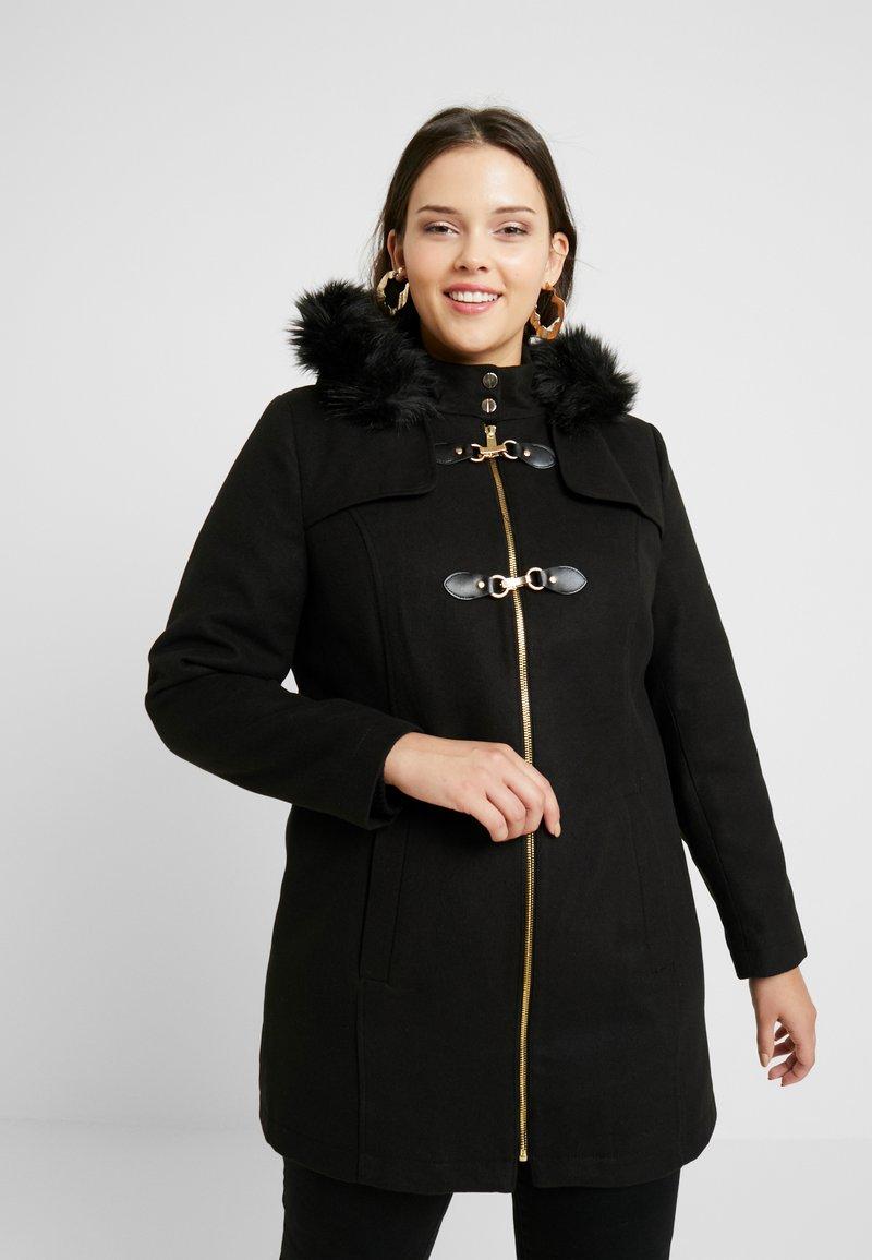 Simply Be - DUFFLE COAT - Kort kåpe / frakk - black