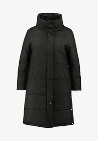 Simply Be - LONG PUFFER COAT WITH CONTRAST LINING - Villakangastakki - black - 4
