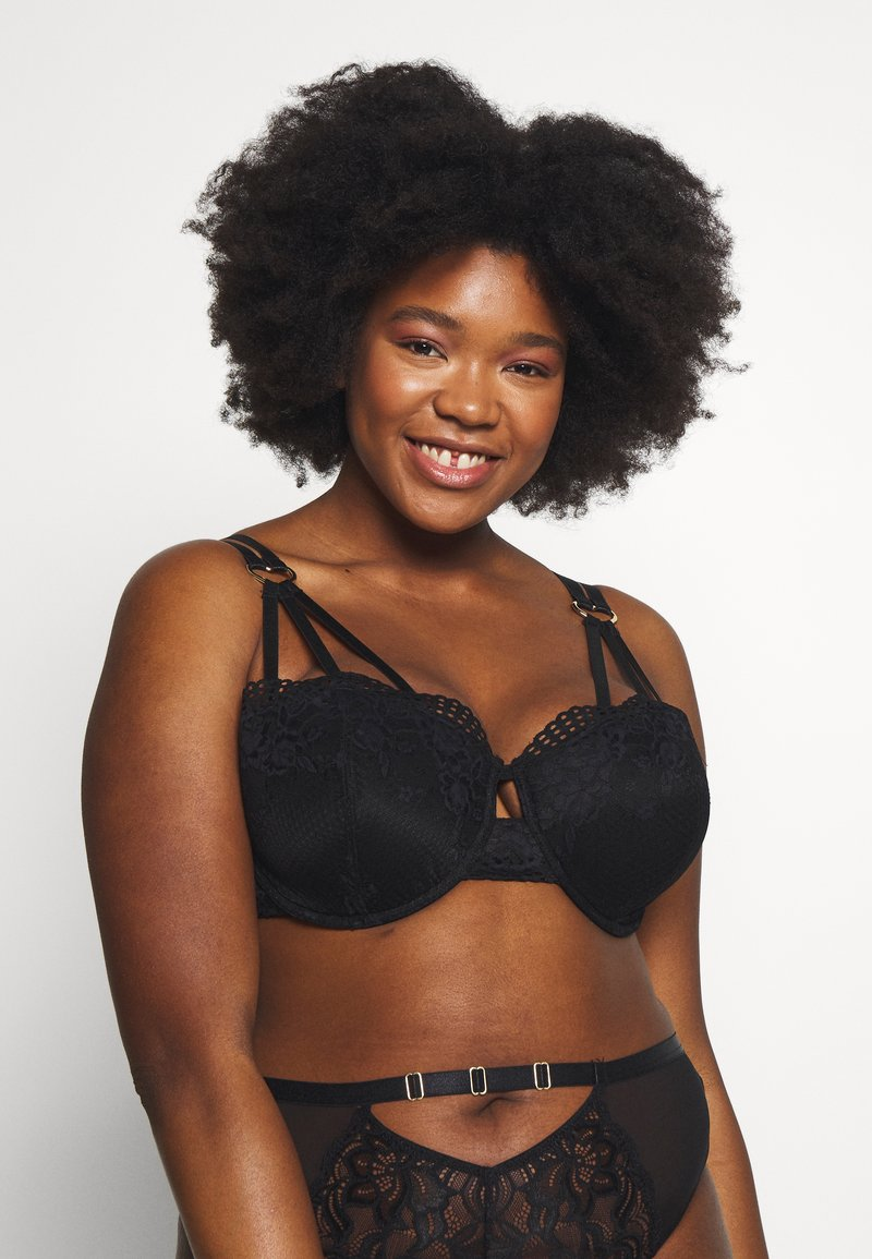 Simply Be - LONDON EDITION KNIGHTSBRIDGE STRAPPY BALCONY - Underwired bra - black