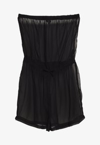 Simply Be - MIX AND MATCH BEACH PLAYSUIT - Beach accessory - black - 0