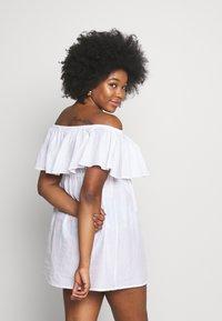 Simply Be - VALUE BARDOT BEACH DRESS - Strand accessories - white - 2