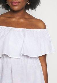 Simply Be - VALUE BARDOT BEACH DRESS - Strand accessories - white - 5