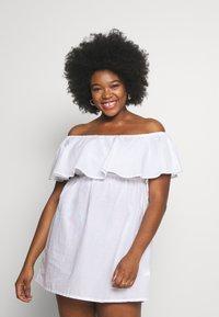 Simply Be - VALUE BARDOT BEACH DRESS - Strand accessories - white - 0