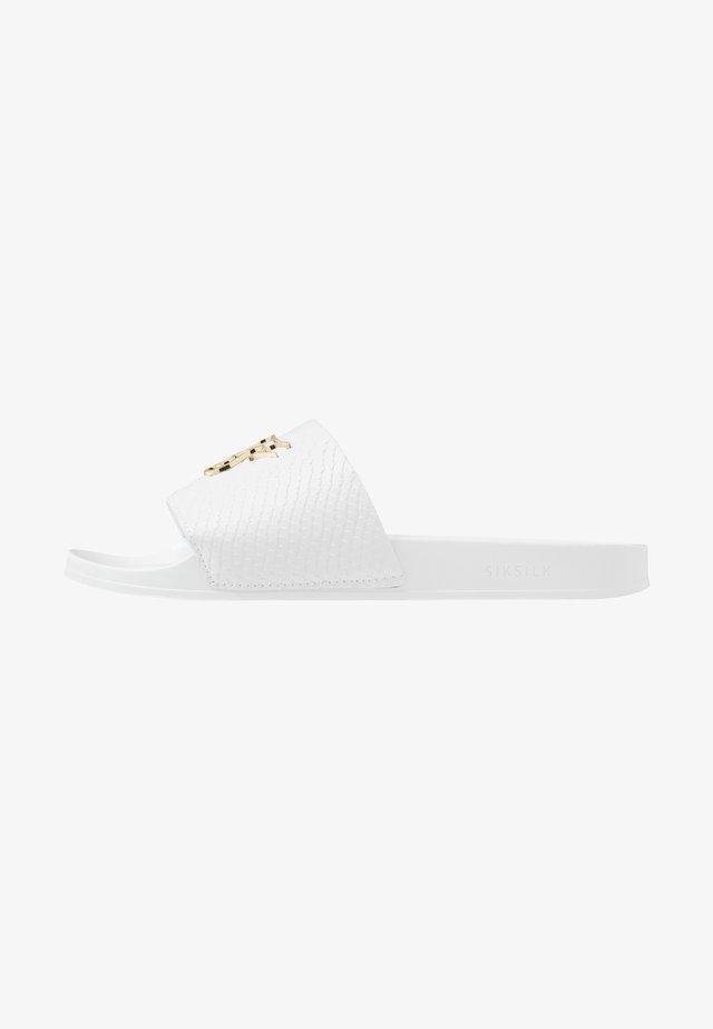 ROMA SLIDES - Pantolette flach - white