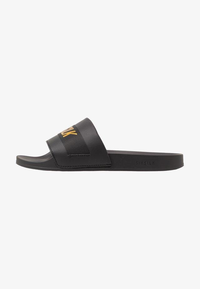 ROMA SLIDES - Sandaler - black/gold