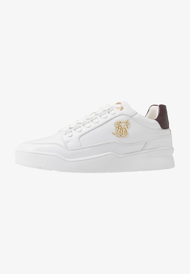 D-RING PURSUIT - Sneakers laag - white/burgundy
