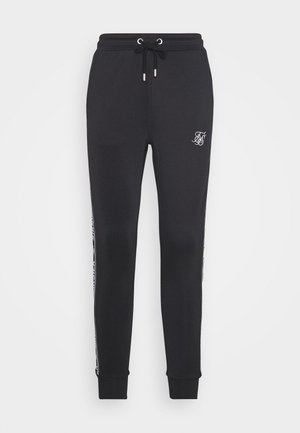 SIKSILK ARC TECH CROPPED TRACK PANTS - Tracksuit bottoms - black