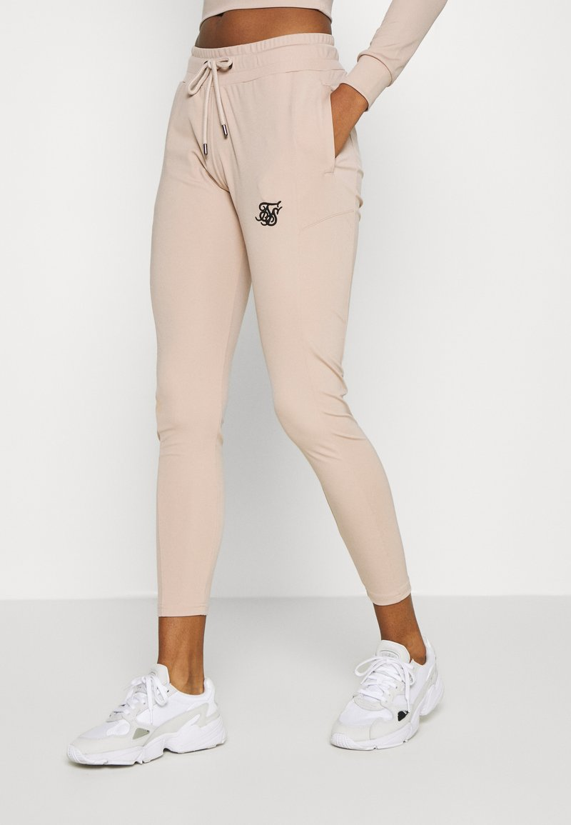 SIKSILK - ZONAL TRACK PANTS - Tracksuit bottoms - beige