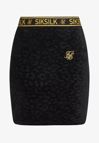 SIKSILK - DEBOSSED SKIRT - Minisukně - black