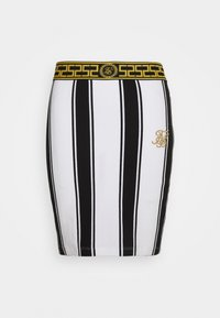 SIKSILK - ATHENA STRIPE SKIRT - Minisukně - black/white - 3