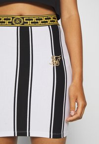 SIKSILK - ATHENA STRIPE SKIRT - Minisukně - black/white - 4