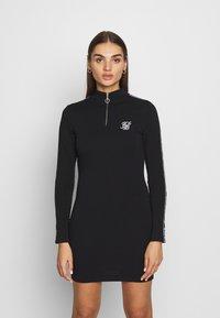 SIKSILK - HIGH NECK DRESS - Pouzdrové šaty - black - 0