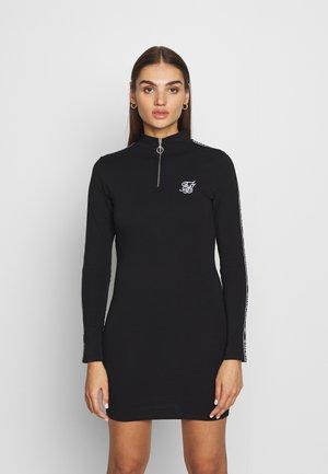 HIGH NECK DRESS - Pouzdrové šaty - black