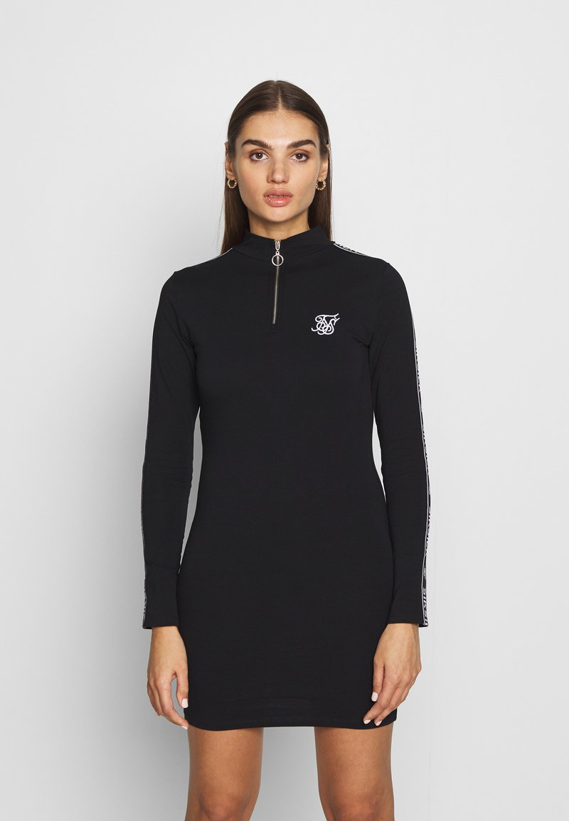 SIKSILK - HIGH NECK DRESS - Pouzdrové šaty - black