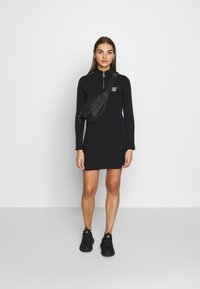 SIKSILK - HIGH NECK DRESS - Pouzdrové šaty - black - 1