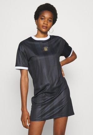 LUXURY POLYDRESS - Žerzejové šaty - black