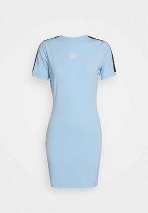 SKY TAPE BODYCON DRESS - Vestido ligero - light blue