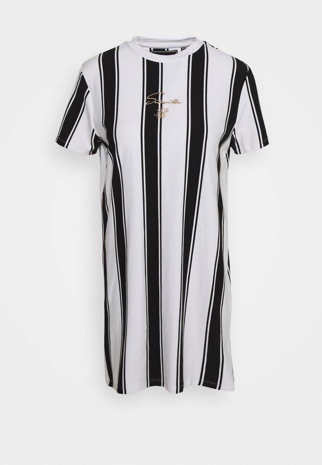 ATHENA STRIPE DRESS - Vestido ligero - black/white
