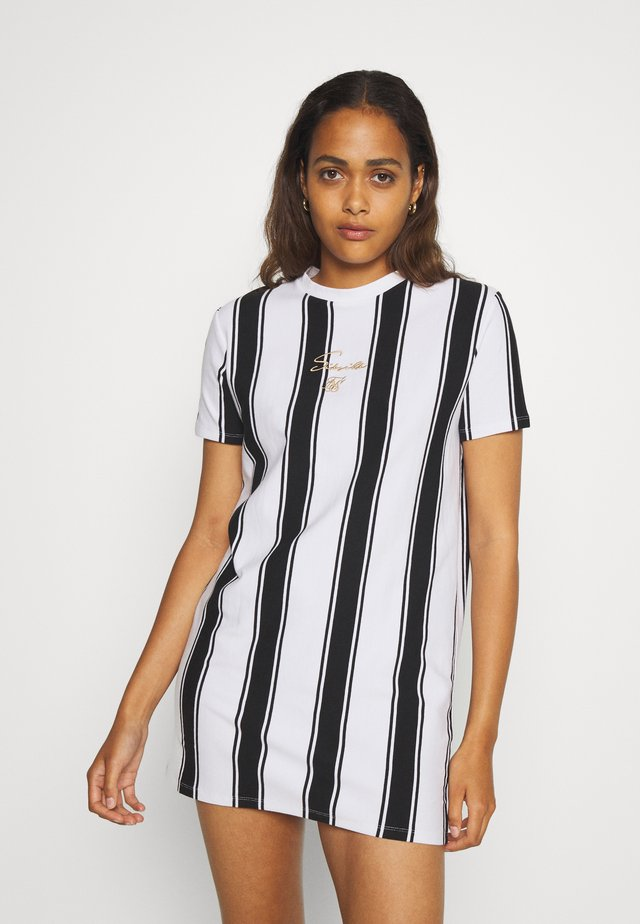 ATHENA STRIPE DRESS - Sukienka z dżerseju - black/white