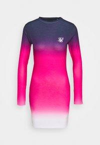 SIKSILK - TAPE FADE BODYCON DRESS - Žerzejové šaty - navy/pink/white - 3