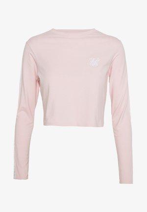LONG SLEEVE CROP - Pitkähihainen paita - cloud pink