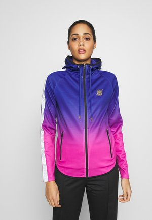 SIKSILK ATHLETE FADE ZIP THROUGH HOODIE - Chaqueta de entrenamiento - blue/rose