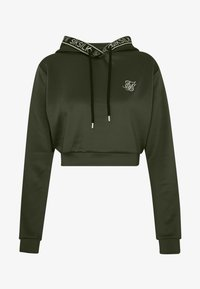 SIKSILK - TAPED CROPPED HOODIE - Mikina s kapucí - bronze/green - 3