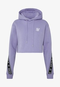 SIKSILK - TWISTED TAPE CROPPED HOODIE - Mikina skapucí - violet - 3