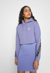 SIKSILK - TWISTED TAPE CROPPED HOODIE - Mikina skapucí - violet - 0