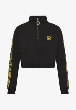 CARTEL QUARTER ZIP CROP - Mikina - black