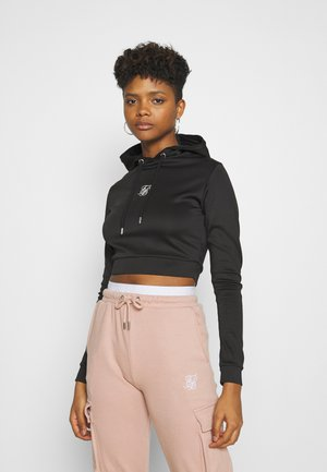 TECH CROPPED TRACK - Hoodie - black
