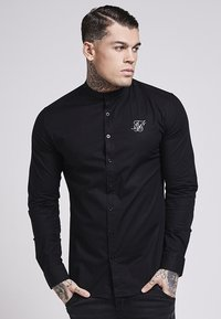 SIKSILK - OXFORD STRETCH FIT - Overhemd - jet black - 0
