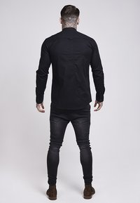 SIKSILK - OXFORD STRETCH FIT - Overhemd - jet black - 3