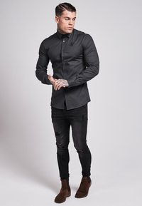 SIKSILK - STRETCH - Camisa - dark grey - 1