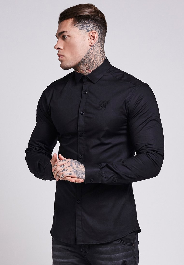 SIKSILK - STRETCH - Overhemd - black