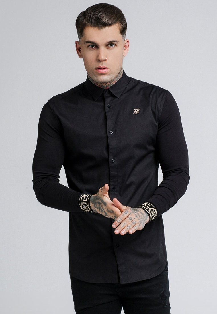 SIKSILK - CARTEL - Shirt - black/gold