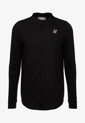 GRANDAD COLLAR JLONG SLEEVE FITTED - Chemise - black