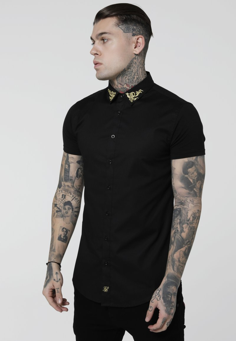 SIKSILK - VENETIAN - Shirt - black
