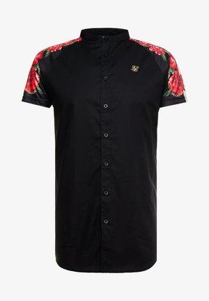 RAGLAN BACK PANEL SHIRT - Košile - black/ecru/red