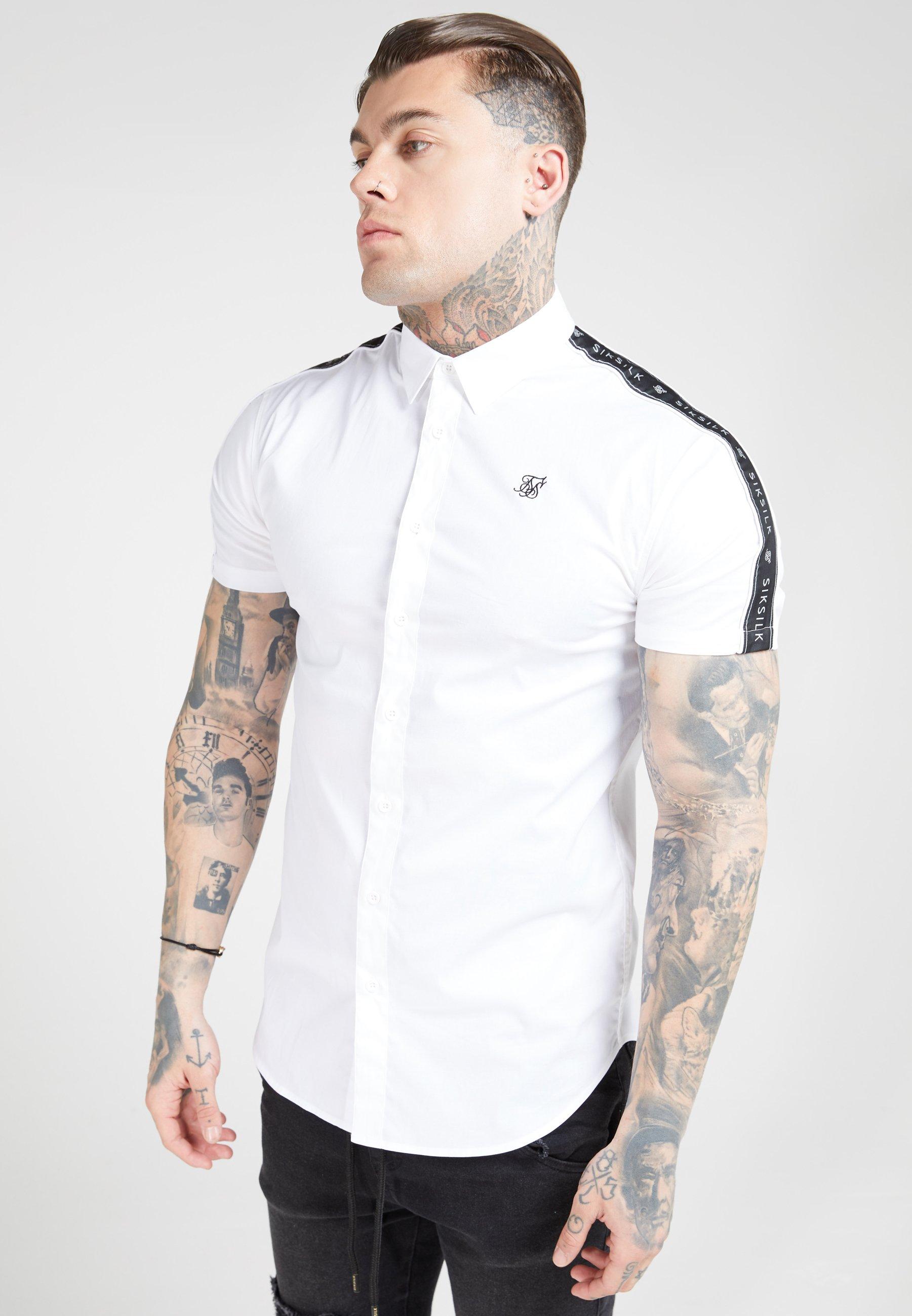 SIKSILK PIPED TAPE - Koszula - white