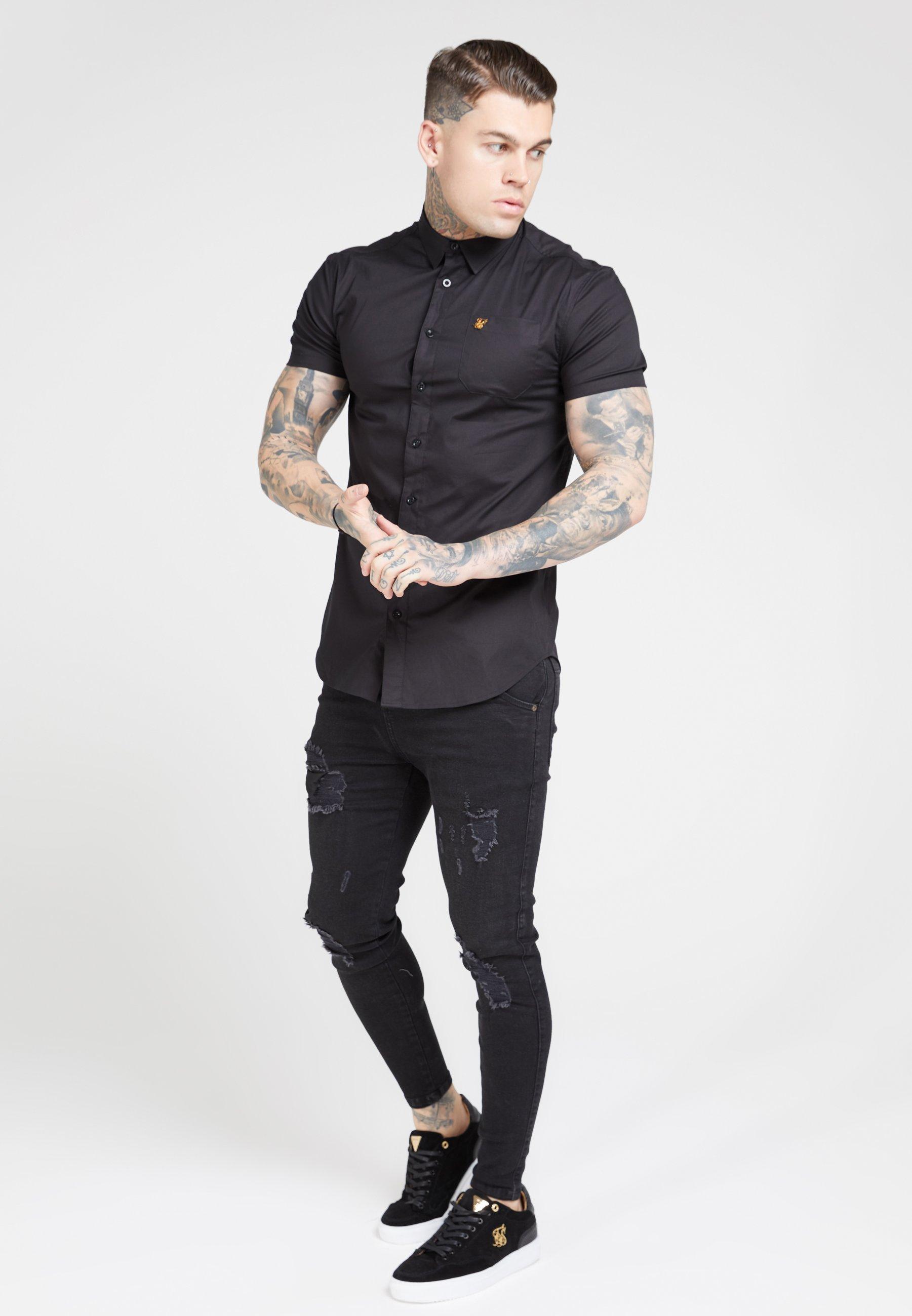 SIKSILK SMART SHIRT - Koszula - black