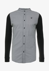 SIKSILK - GRANDAD COLLAR DOGTHOOTH CHECK - Camicia - black - 4