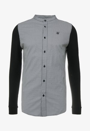 GRANDAD COLLAR DOGTHOOTH CHECK - Shirt - black