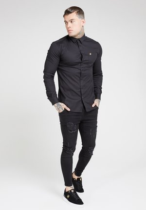 SIKSILK LONG SLEEVE SMART SHIRT - Overhemd - black