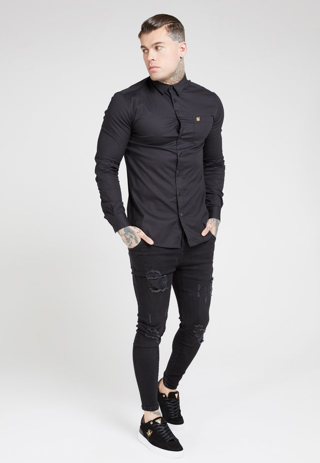 SIKSILK LONG SLEEVE SMART SHIRT - Hemd - black
