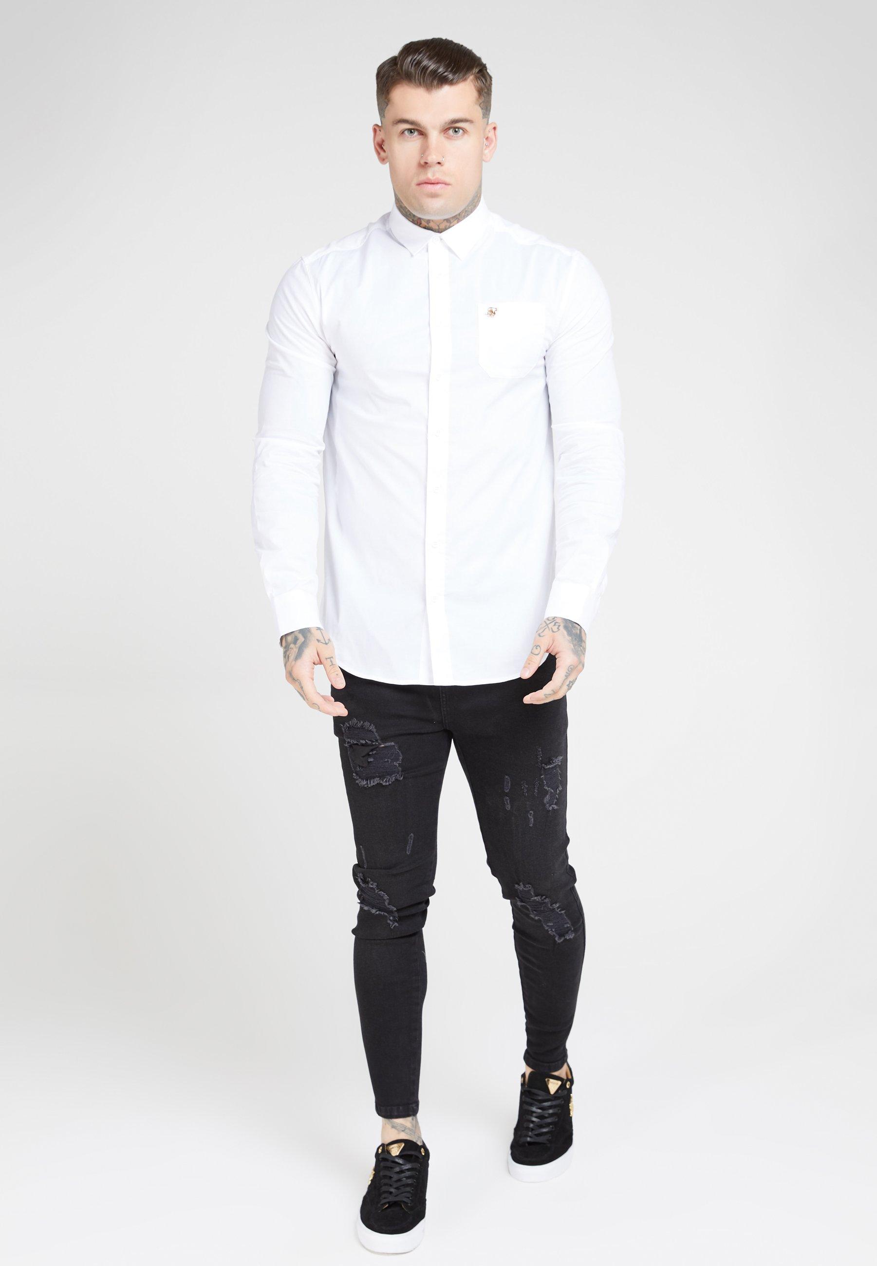 SIKSILK LONG SLEEVE SMART SHIRT - Koszula biznesowa - white
