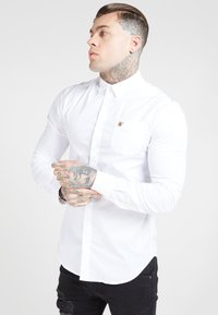 SIKSILK - LONG SLEEVE SMART SHIRT - Koszula biznesowa - white - 0