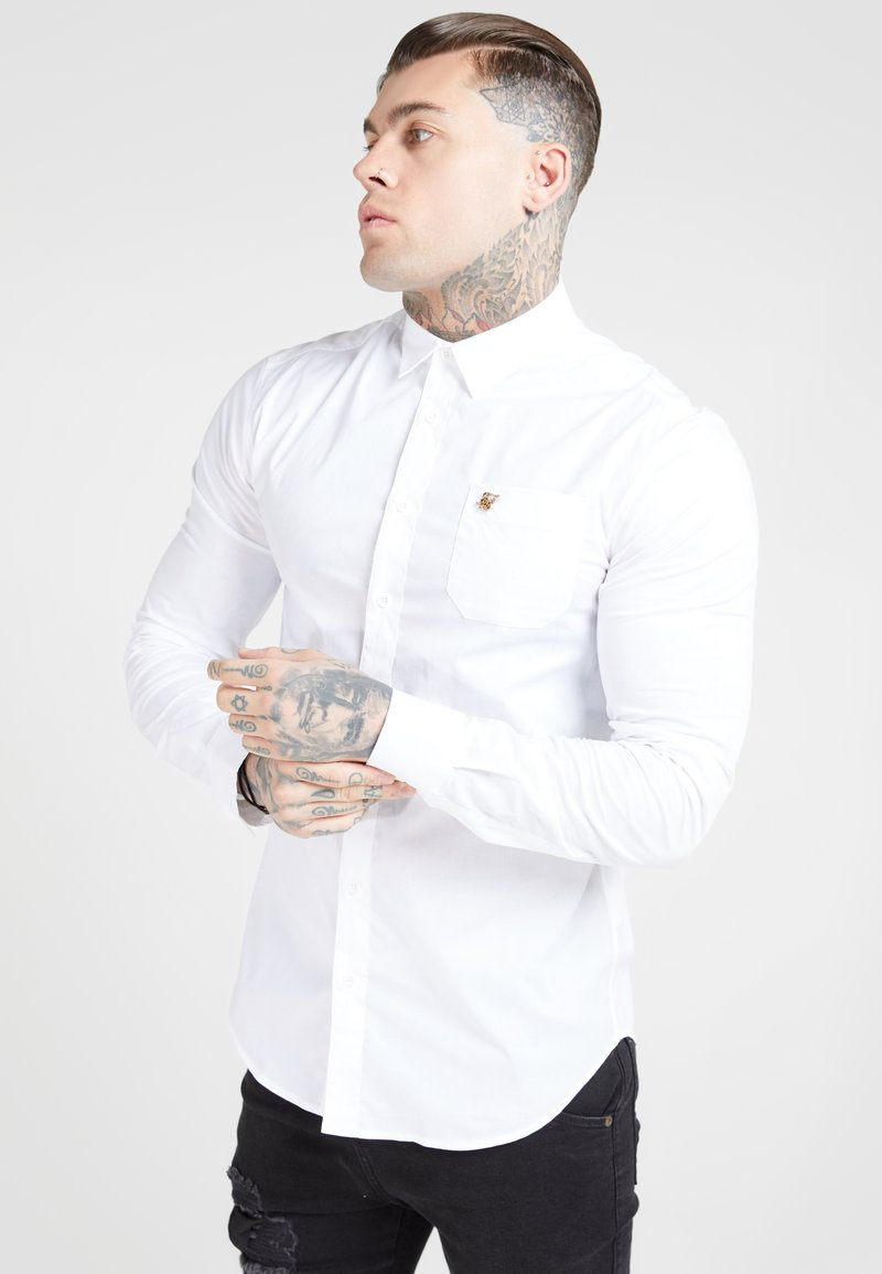 SIKSILK - LONG SLEEVE SMART SHIRT - Koszula biznesowa - white