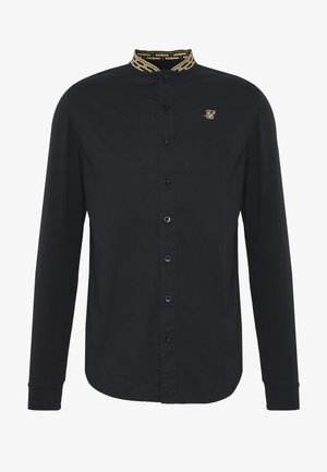 LONG SLEEVE TAPE COLLAR - Shirt - black/gold