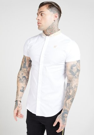 TAPE COLLAR - Camicia - white/gold